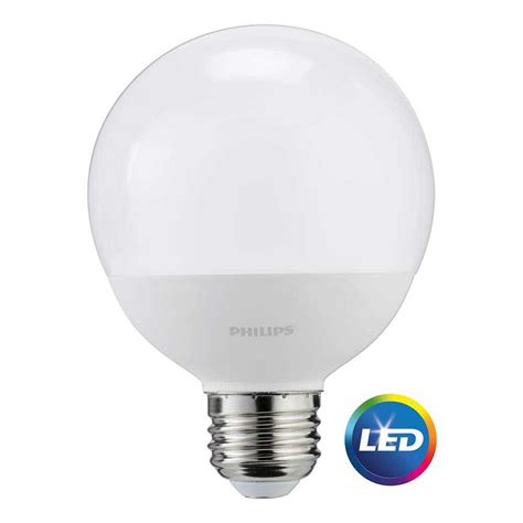 Led Globe Light Bulb Philips 60w Equivalent Daylight Frosted G25 Globe Led Light Bulb 12 Pack 465831 The Home Depot