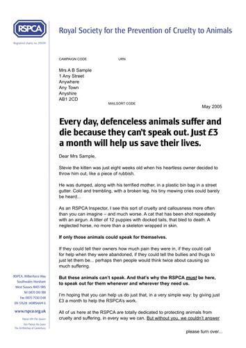 charity letter rspca resources for rspca non fiction analysis by fluffykat 9