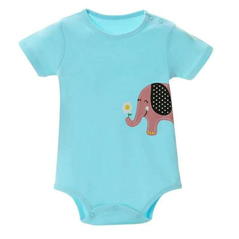 elephant pattern clothes 2016 summer baby infant boys clothes pattern girls