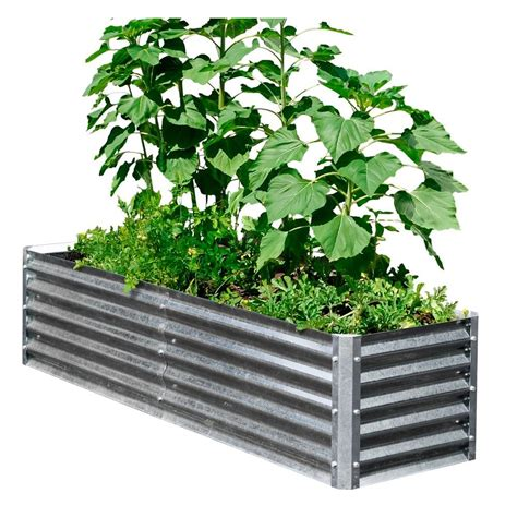 metal garden beds earthmark alto series 40 in x 76 in x 17 in galvanized