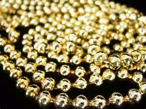 vintage gold glass bead christmas tree garland