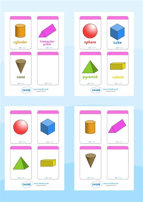 printable shapes display twinkl resources gt gt 3d shape flashcards gt gt printable