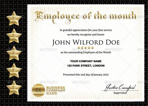 employee of the quarter certificate template 50 diploma and certificate templates in psd word vector