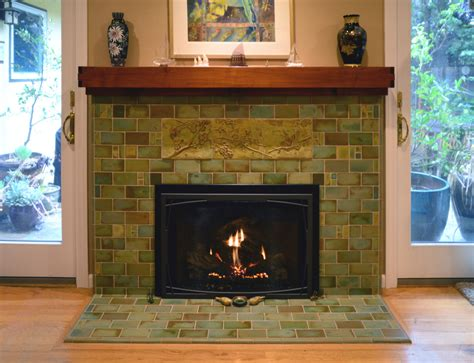 craftsman fireplace tile fireplaces pasadena craftsman tile