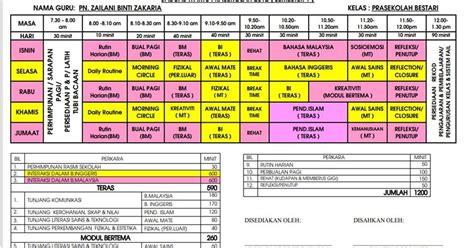 laman informasi prasekolah pengajaran bertema laman informasi prasekolah jadual waktu prasekolah 2012