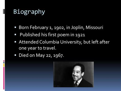 biography and autobiography powerpoint ppt langston hughes powerpoint presentation id 2927923
