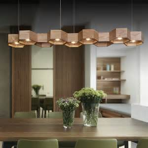 Dining Room Chandeliers With L Shades L70cm 27 6 Quot Creative L Lighting Dining Room Simple Honeycomb Wood Wooden Chandelier In