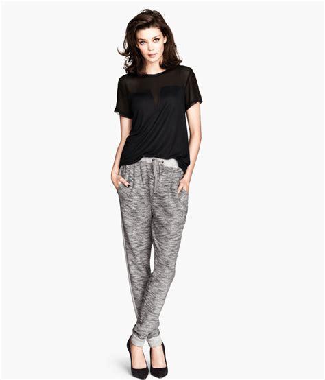 h m sweatpants in gray lyst