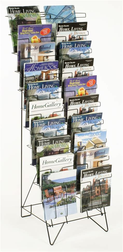this magazine rack features 20 pockets the floor standing