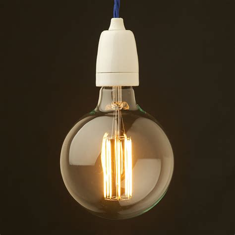 Porcelain Pendant Light Edison Style Light Bulb And E27 White Plain Porcelain Fitting