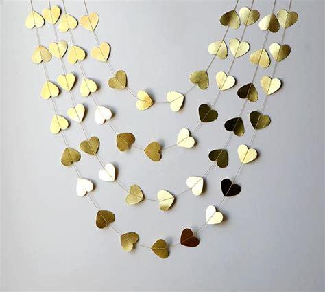 valentines day garland gold garland valentines day decor valentines
