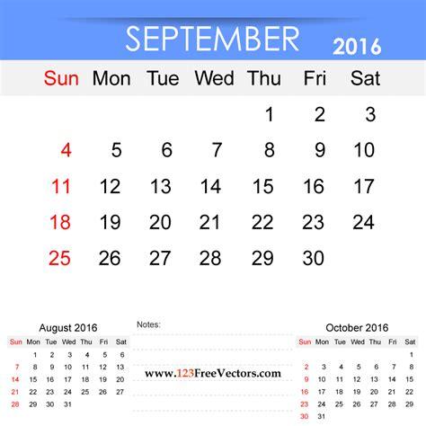 printable calendar 2016 vector september 2016 calendar printable download free vector