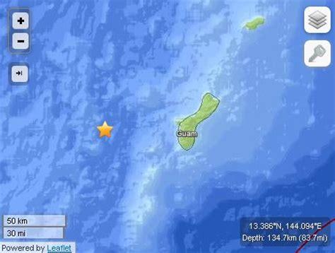 earthquake near me today earthquake today near guam no tsunami warning as of yet