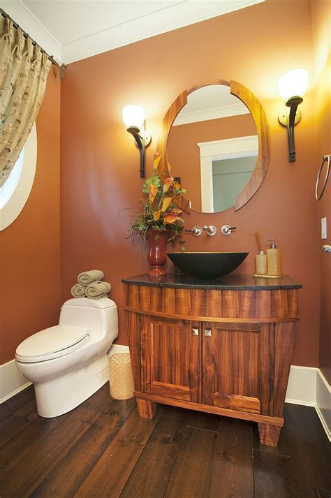 hot summer trend 25 dashing powder rooms with tropical flair enchanting orange powder room photos best ideas exterior