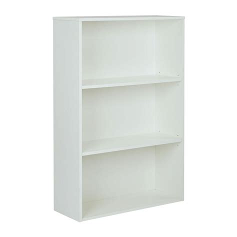 pro line ii prado white open bookcase prd3248 wh the