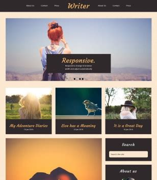 writer blogger template blogspot templates 2018