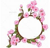 Pretty Clipart Frame Pencil And In Color Bunga