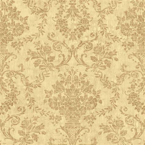 Wallpaper Gold Floral | om92105 gold floral damask fontana raymond waites