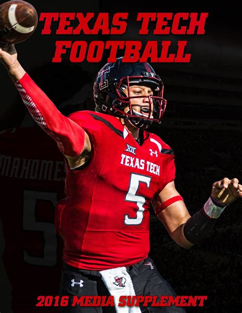 Ttu Department Of Mba by 2016 Tech Football Media Supplement By Tech