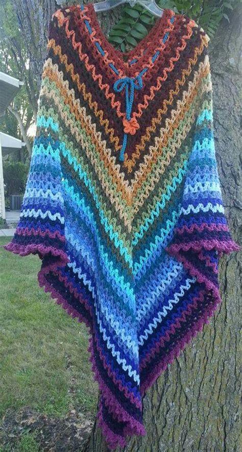 zig zag crochet shawl pattern autumn ombre duster caftan length crazy zigzag striped