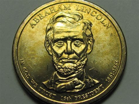abraham lincoln on dollar 2010 d abraham lincoln one dollar presidential coin ebay