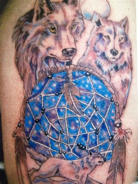 wolf and dreamcatcher tattoo designs catcher images designs