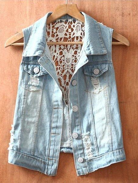 Nayla Ripped Jaket s repurposed jean jacket crochet skirt by redeuxclothing 135 00 picmia