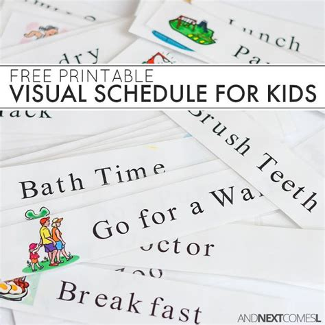 free printable daily visual schedule free printable daily visual schedule free printable