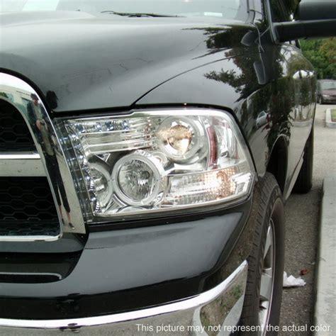 aftermarket headlights for dodge ram 1500 2009 14 dodge ram 1500 black ccfl halo led projector