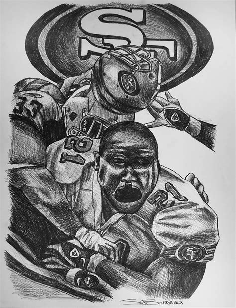 49ers Sketches by Bardsley Sports Frank 2012