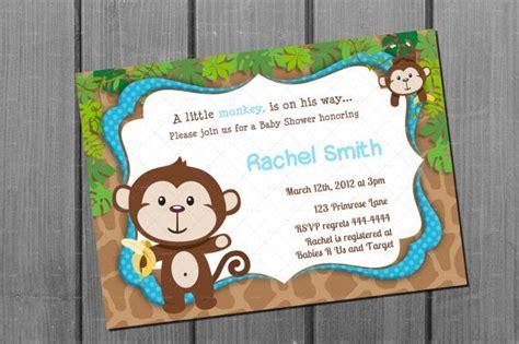 monkey baby shower invitations printable 6 best images of baby boy monkeys printable monkey baby shower baby boy