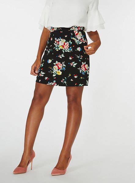 flower patterned mini skirt dorothy perkins skirts black floral print ruffle mini