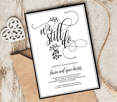 Vow Renewal Invitation Template We Still Do Instant Vow Renewal Invitations Templates