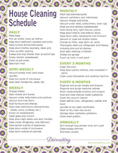 printable weekly house cleaning schedule house cleaning weekly house house cleaning list printable