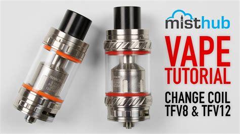 tutorial coil vape how to change coils on smok alien tfv8 tfv12 series vape