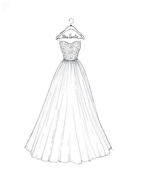 Kleider Design Vorlage Benutzerdefinierte Hochzeit Kleid Skizze