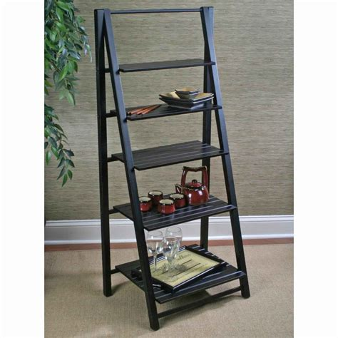 leaning ladder bookshelf plans for home office