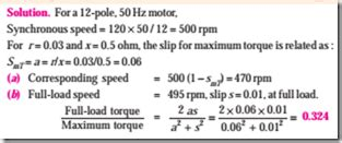 3 phase induction motor load current calculation induction motor starting torque and maximum torque electric equipment