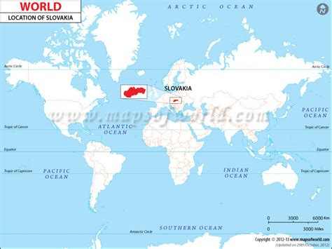 location of republic on world map where is slovakia location of slovakia