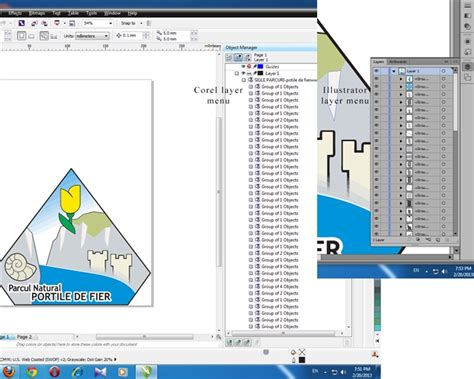 corel draw x6 layers individual graphic elements on layer vvisible or invisible