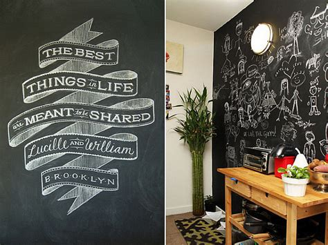 chalkboard paint wall living space chalkboard wall paint decoist