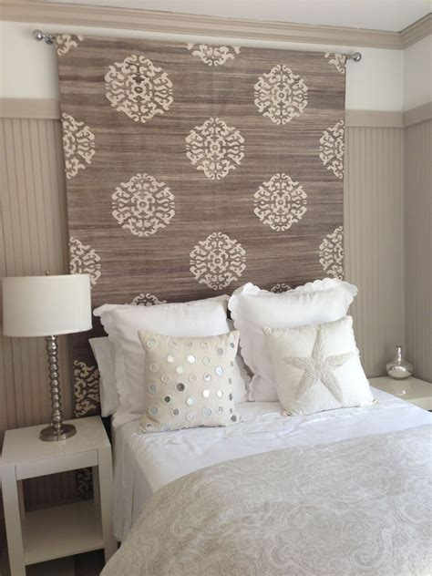 fabric headboard pinterest h headboard idea rug tapestry or heavy fabric would