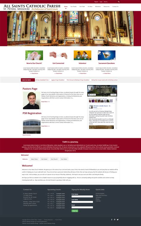 Catholic Church Website Template Simple Church Website Templates