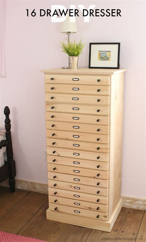 16 drawer dresser that s my letter diy 16 drawer dresser free plans