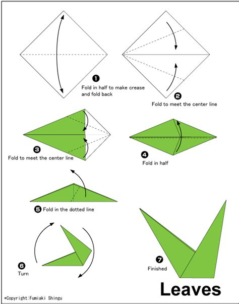 Simple Origami Leaf - origami flower