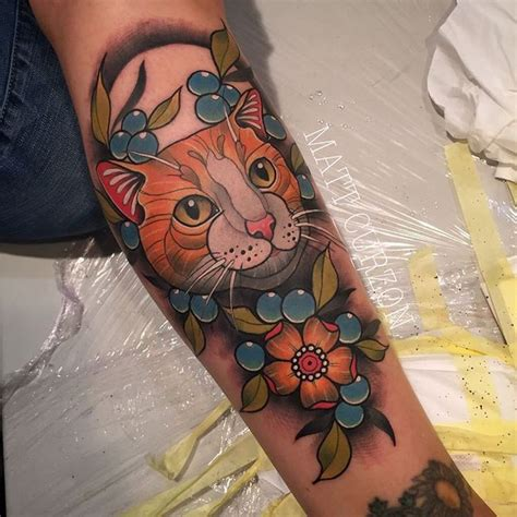 Neo Trad Cat Tattoo | 129 best neo traditional images on pinterest arm tattoos