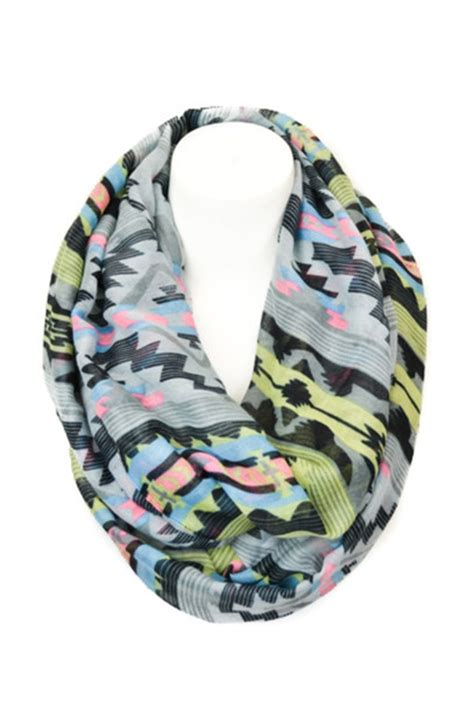 t shirt infinity scarf pattern scarf neon aztec tribal pattern tribal print infinity