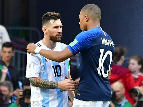 kylian mbappe on messi kylian mbappe leaves lionel messi in his wake as a world
