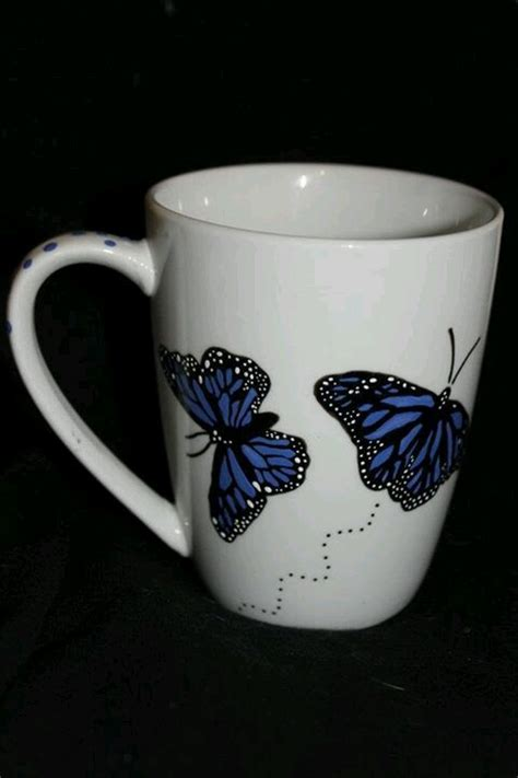 coffee mug ideas pictures to pin on pinterest pinsdaddy hand painted butterfly mug coffee mugs pinterest