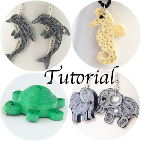 tutorial quilling gioielli tutorial for paper quilled animal jewelry pdf dolphin elephant